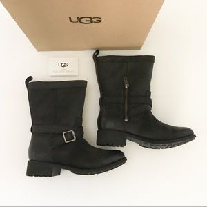 UGG Glendale Water Resistant Boot Size 7 Black